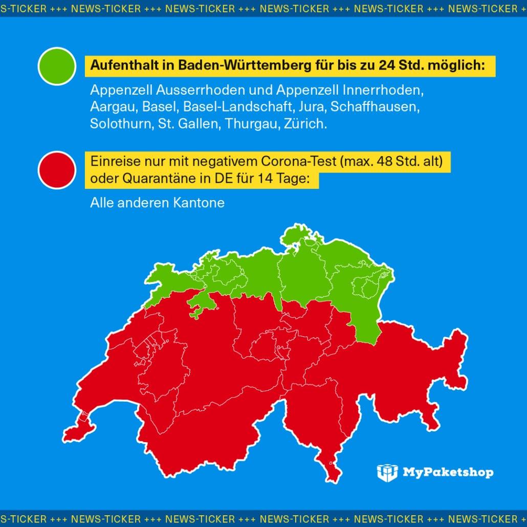 Corona-Risikogebiete Schweiz