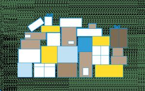 gestapelte Pakete (grafisch)
