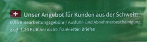 Angebot Mehrwersteuerrückerstattung Schweiz dm