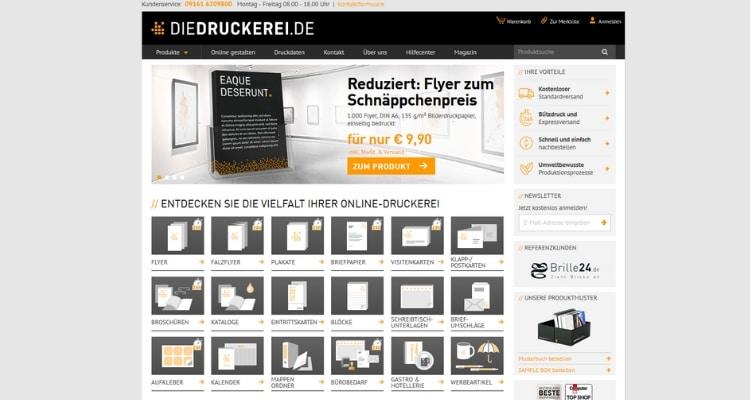 Online Druckerei Diedruckerei.de