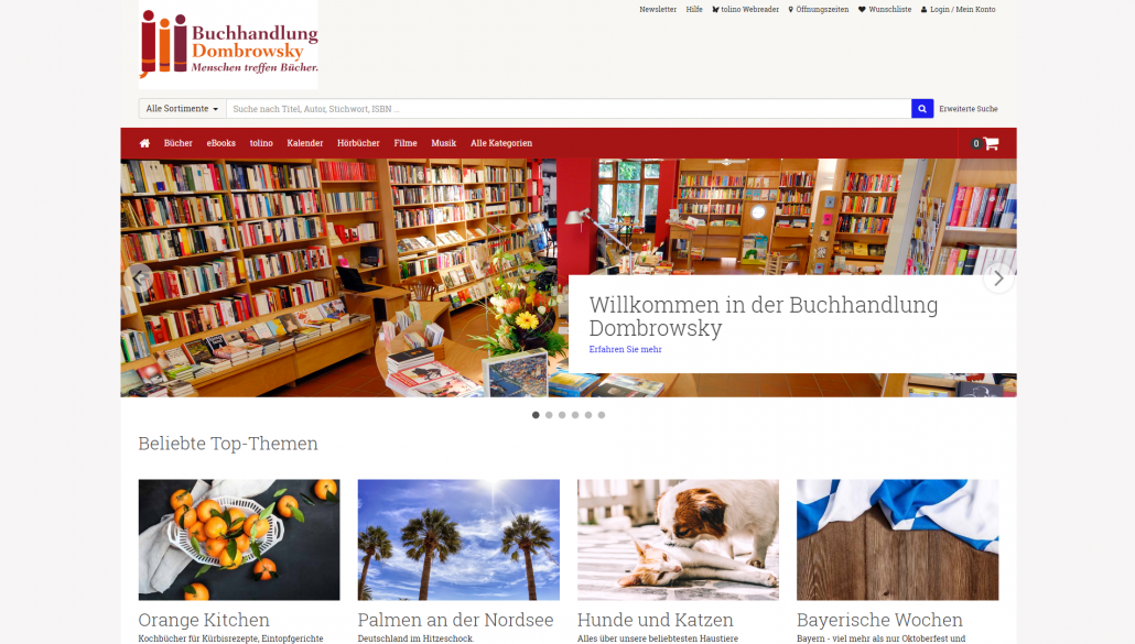 Buchhandlung Dombroswky