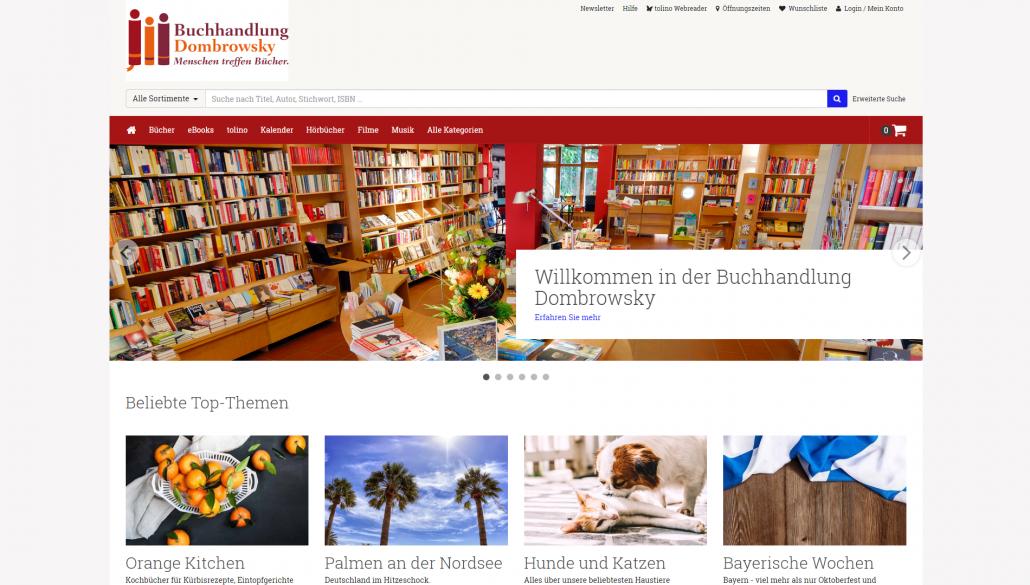 Buchhandlung Dombroswky