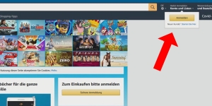 Auf Amazon einloggen