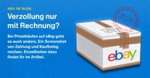 Verzollungsservice: Auch Privatkäufe auf ebay senden wir in die Schweiz