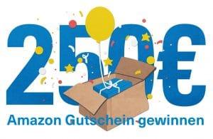 Amazon-Gutschein über 250 Euro - Hintergrund weiß