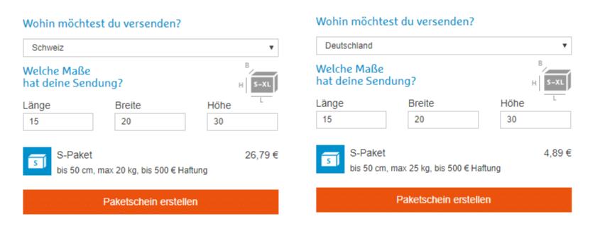 Preisvergleich Hermes Deutschland Schweiz