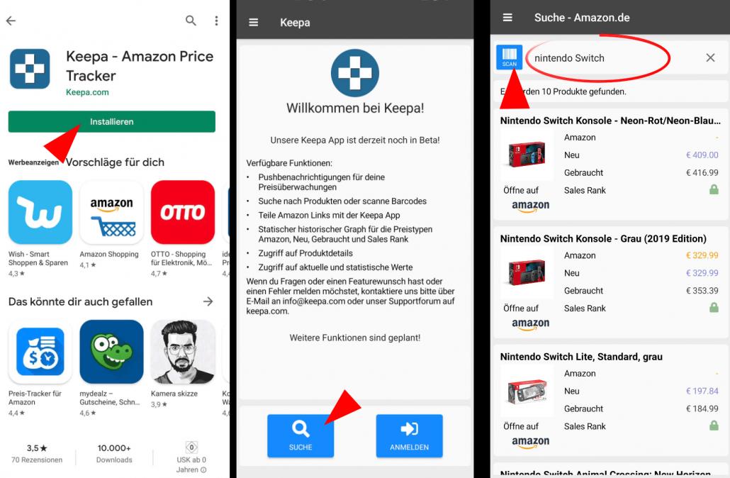 Keepa-App nutzen 1