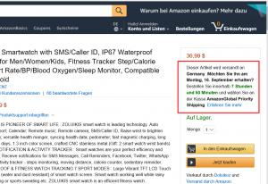 Anzeige des Lieferdatums auf Amazon.com