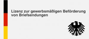 Deutsche Lieferadresse mit Lizenz