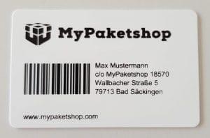 Die neue Kundenkarte von MyPaketshop