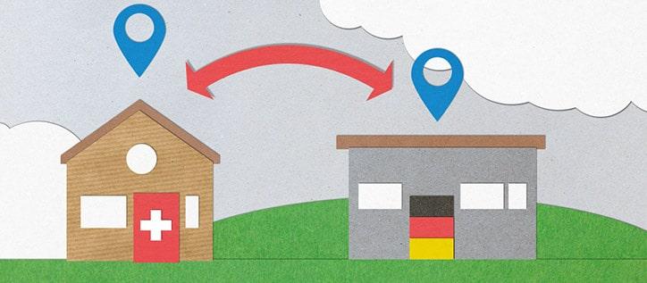 grafische Darstellung deutsche Lieferadresse