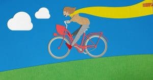 Verrückter Schweizer auf dem Fahrrad (grafisch)