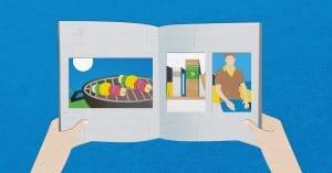 Aufgeschlagenes Fotobuch