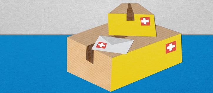 Paket- und Warensendungen in die Schweiz