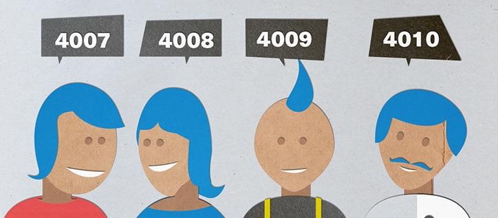 grafische Darstellung Kundennummern