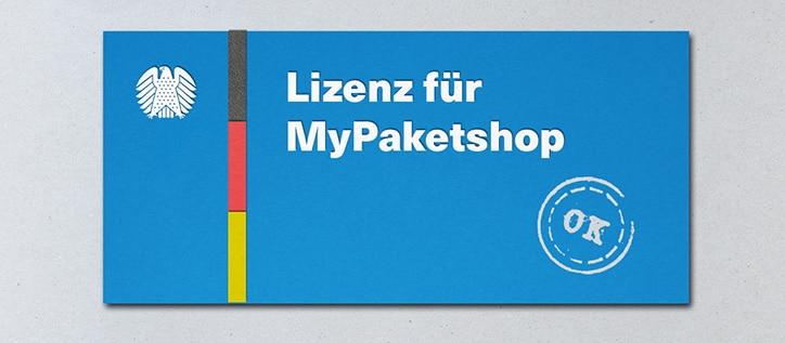 Grafische Darstellung Lizenz für MyPaketshop