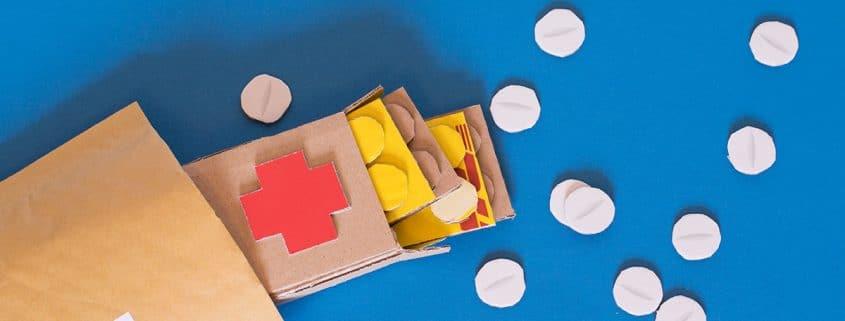 Pillenbox aus Karton