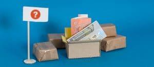 Geld in Karton