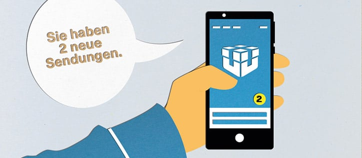 SMS Sendungsbeanchrichtigung