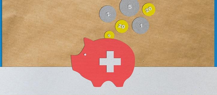Geld in Sparschwein (grafisch)