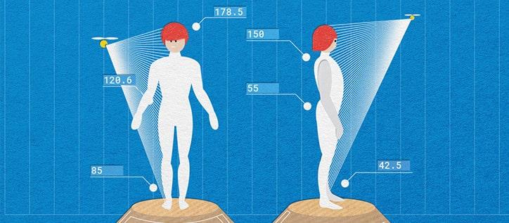 Körper-Scanner - Zukunfts-Shopping