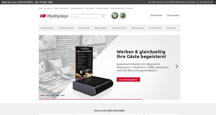 Online Druckerei Mydisplays