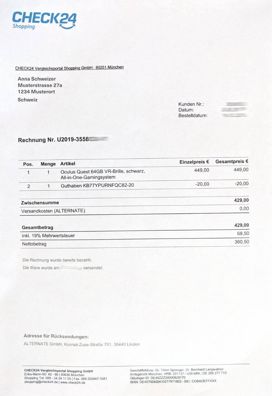 Rechnung Online