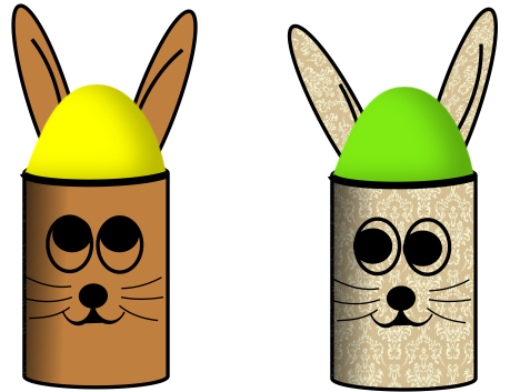 Osterhasen-Eierbecher aus Papierrolle