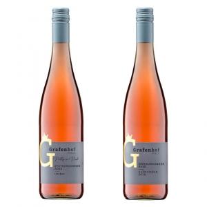 Zwei Flaschen Pretty in Pink Weingut Grafenhof
