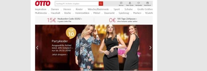 Ratgeber Online-Shop Otto (Screenshot-Webseite)