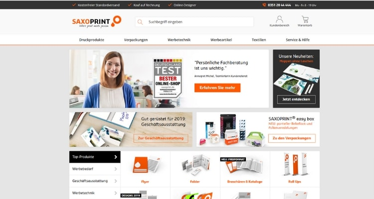Online Druckerei Saxoprint