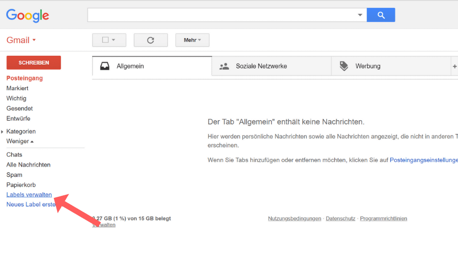 Whitelist erstellen Gmail Schritt 2