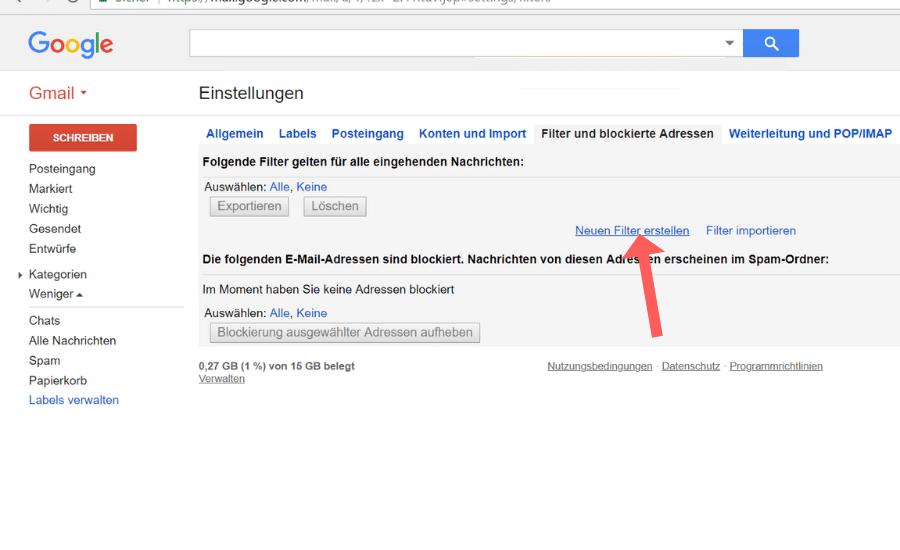 Whitelist erstellen Gmail Schritt 4