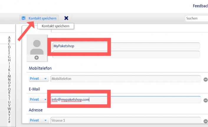 Whitelist bei Bluewin (Swisscom) einrichten - E-Mailadresse eintragen