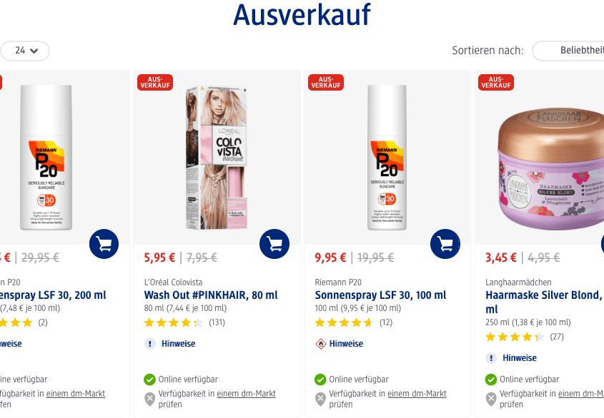 Rabatte auf dm.de