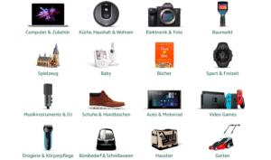 Kategorien bei Amazon Warehouse- Übersicht