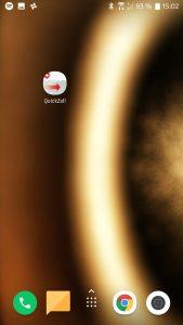 QuickZoll-App Symbol auf Smartphone