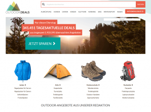 Screenshot von OutdoorDeals.de