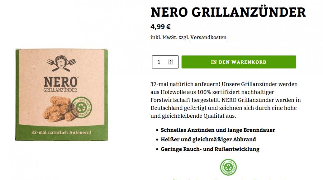 Screenshot www.nero-grillen.de