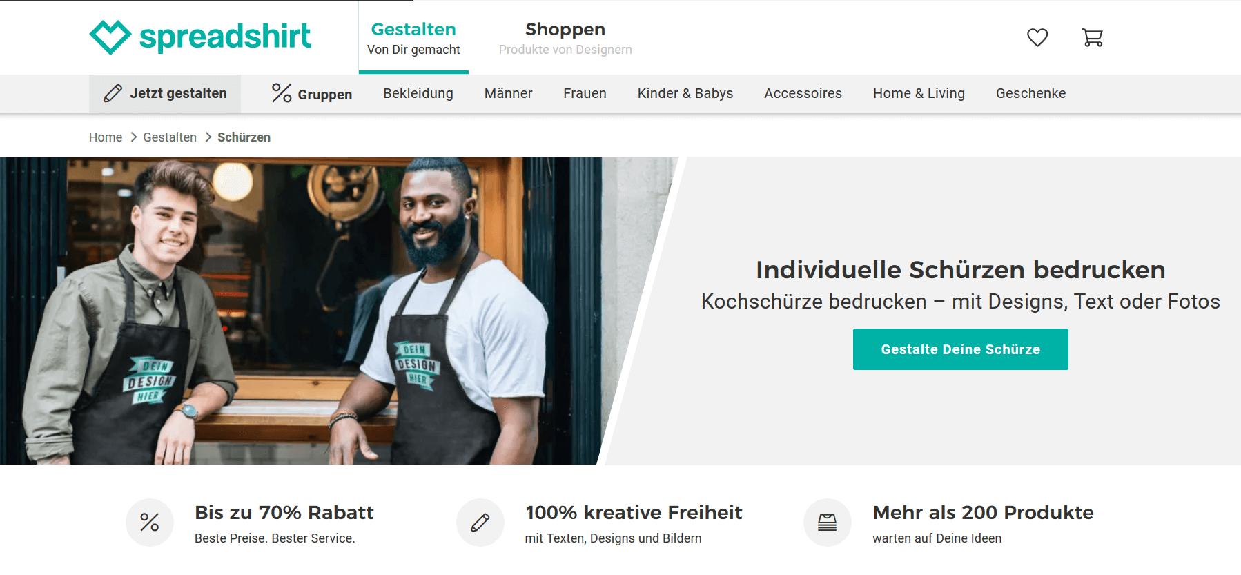 Screenshot 2019 05 29 Schurzen Bedrucken Kochschurze Gestalten Spreadshirt Mypaketshop