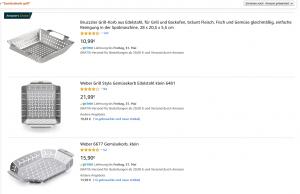 Screenshot Amazonsuche