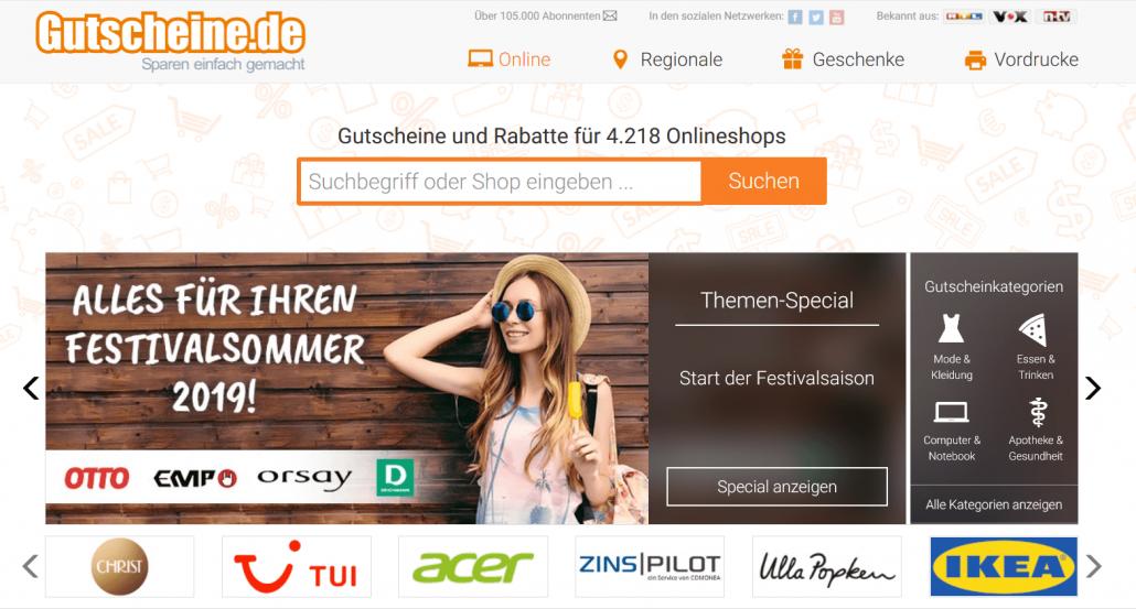 Startseite Gutscheine.de