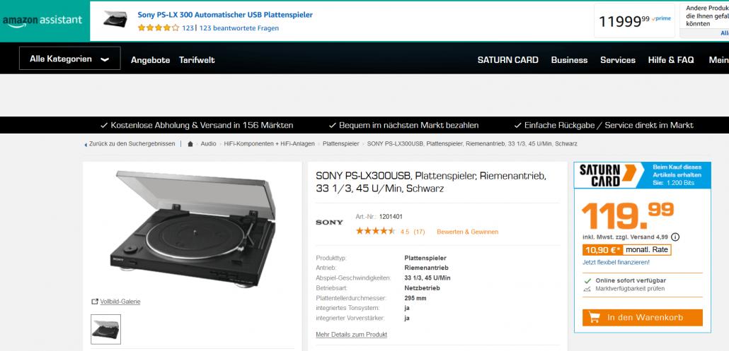 Amazon Assistant zeigt falschen Preis