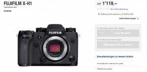 Body der Fujifilm X-H1