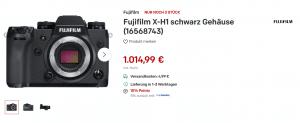 Fujifilm X-H1 in Deutschland