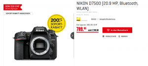 Body Nikon D7500