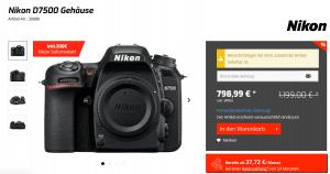 Nikon D7500 im Online Shop
