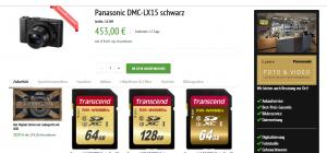 Panasonic DMC-LX15 im Online Shop