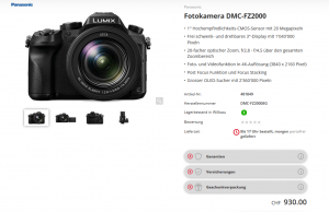 Schweizer Shop mit Panasonic Lumix DMC-FZ2000