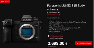 Body der Panasonic Lumix S1R
